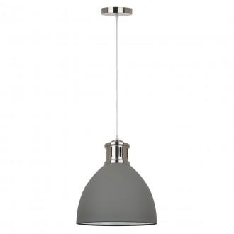 ITALUX MD-HN8100-GR+S.NICK | Lola-IT Italux visilice svjetiljka 1x E27 mat sivo, krom