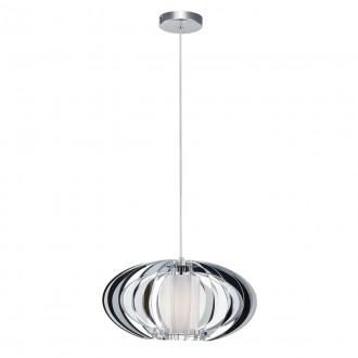 ITALUX MD16092-1B | Sabella Italux visilice svjetiljka 1x E27 krom, bijelo
