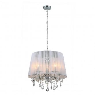 ITALUX MDM-2572/5 W | Cornelia-IT Italux visilice svjetiljka 5x E14 krom, bijelo, prozirno