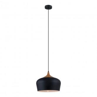 ITALUX MDM-2681/1M BK | Britta-IT Italux visilice svjetiljka 1x E27 crno, smeđe