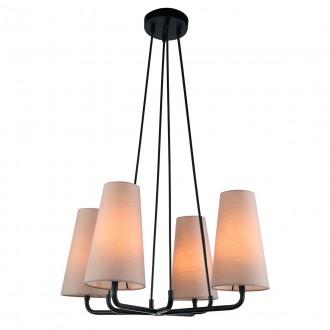 ITALUX MDM-3545/4 BK+LIGHT GR | Primo-IT Italux visilice svjetiljka 4x E14 crno, sivo