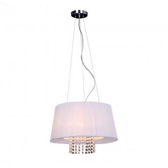 ITALUX MDM1935-3 W | Luisa-IT Italux visilice svjetiljka 3x E14 krom, bijelo, prozirno