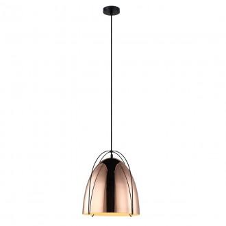 ITALUX MDM3346/1 COP | Zilla Italux visilice svjetiljka 1x E27 bakar, crno