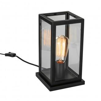 ITALUX MT-202621-1-B | Laverno Italux stolna svjetiljka 26,5cm sa prekidačem na kablu 1x E27 crno, prozirno