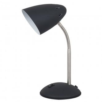 ITALUX MT-HN2013-B+RC | Cosmic-IT Italux stolna svjetiljka 30cm s prekidačem fleksibilna 1x E27 crno, krom, bijelo