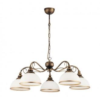 JUPITER 1177 XS 5 KOL | Xsara Jupiter luster svjetiljka 5x E27 antik crveni bakar, bijelo