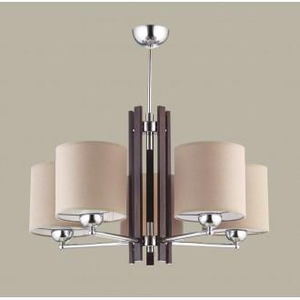 JUPITER 1270 BT 5 | BostonJ Jupiter luster svjetiljka 5x E27 krom, venga, kapuchino