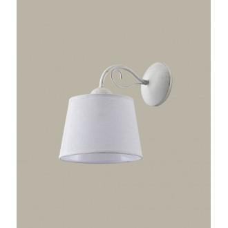 JUPITER 1347 KM K B | Kamelia Jupiter zidna svjetiljka 1x E27 antik bijela, lomljena bijela boja