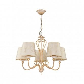JUPITER 1592 SI 5 EC | Sofia Jupiter luster svjetiljka 5x E27 ecru, zlatno
