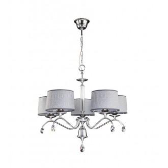 JUPITER 1604 EG 5 CH | Egida Jupiter luster svjetiljka 5x E27 krom, sivo