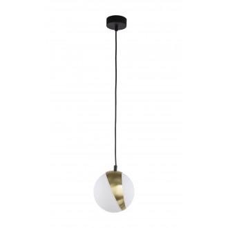 JUPITER 1708 EL 1 CZ/MS | Elfa Jupiter visilice svjetiljka 1x E14 mesing, crno, bijelo