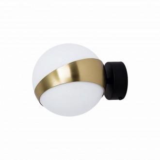 JUPITER 1711 EL K CZ/MS | Elfa Jupiter zidna svjetiljka 1x E14 mesing, crno, bijelo