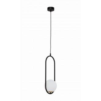 JUPITER 1726 IG 1 CZ | Igon Jupiter visilice svjetiljka 1x E14 mesing, crno, bijelo