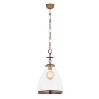 JUPITER 1782 IS 1 P/TR | IslaJ Jupiter visilice svjetiljka 1x E27 antik bakar, prozirno, kristal