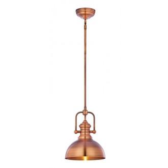 JUPITER 1788 PT 1 MI | Platino Jupiter visilice svjetiljka s podešavanjem visine 1x E27 mat bakar