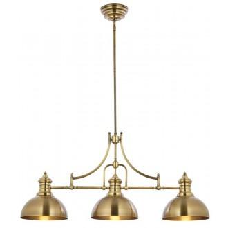 JUPITER 1790 PT 3 P | Platino Jupiter visilice svjetiljka s podešavanjem visine 3x E27 saten brass