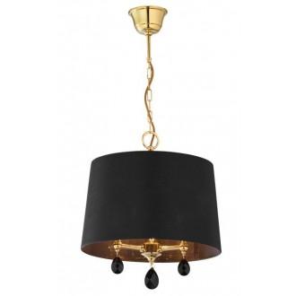 JUPITER 1793 EG 1 MS | Egida Jupiter visilice svjetiljka 3x E27 saten brass, crno