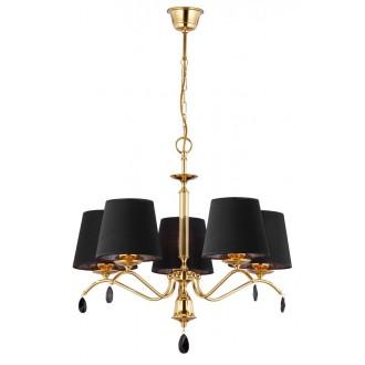 JUPITER 1795 EG 5 MS | Egida Jupiter luster svjetiljka 5x E27 saten brass, crno