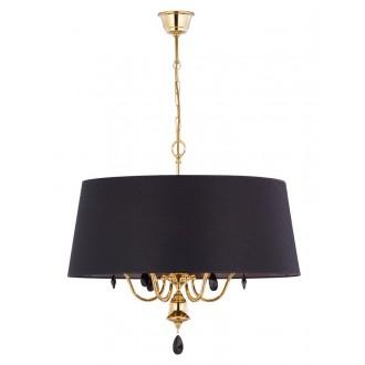 JUPITER 1796 EG 6 MS | Egida Jupiter visilice svjetiljka 6x E27 saten brass, crno