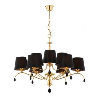 JUPITER 1797 EG 9 MS | Egida Jupiter luster svjetiljka 9x E27 saten brass, crno