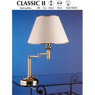 JUPITER 206 CLL | ClassicJ Jupiter stolna svjetiljka 56cm sa prekidačem na kablu elementi koji se mogu okretati 1x E27 satenasti bakar, ecru