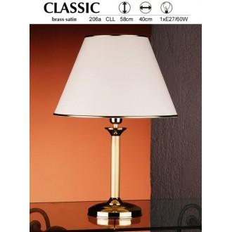 JUPITER 206A CLL | ClassicJ Jupiter stolna svjetiljka 53cm sa prekidačem na kablu 1x E27 satenasti bakar, ecru