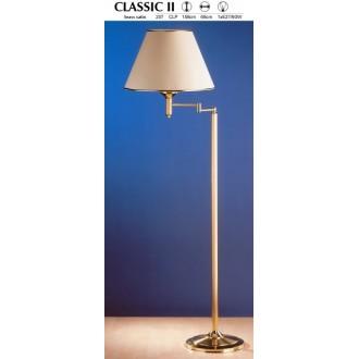 JUPITER 207 CLP | ClassicJ Jupiter podna svjetiljka 158cm sa nožnim prekidačem elementi koji se mogu okretati 1x E27 satenasti bakar, ecru