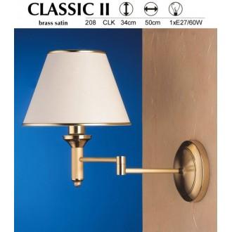 JUPITER 208 CLK | ClassicJ Jupiter zidna svjetiljka elementi koji se mogu okretati 1x E27 satenasti bakar, ecru