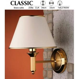 JUPITER 208A CLK | ClassicJ Jupiter zidna svjetiljka 1x E27 satenasti bakar, ecru