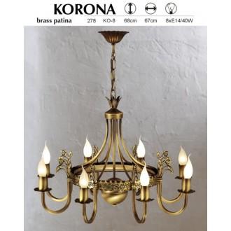 JUPITER 278 KO-8 | KoronaJ Jupiter luster svjetiljka 8x E14 patinastost bakar