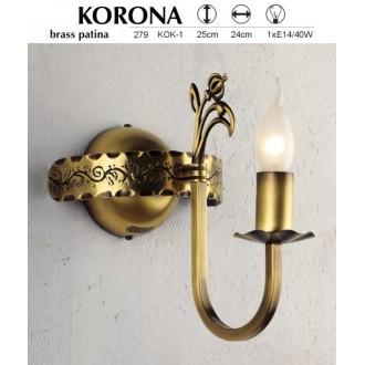 JUPITER 279 KOK-1 | KoronaJ Jupiter zidna svjetiljka 1x E14 patinastost bakar