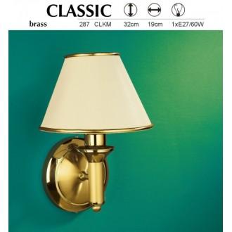 JUPITER 287 CLK-M | ClassicJ Jupiter zidna svjetiljka 1x E27 mesing, ecru