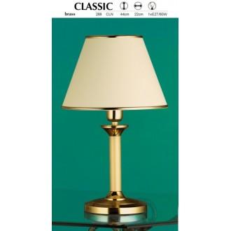 JUPITER 288 CL-N | ClassicJ Jupiter stolna svjetiljka 44cm sa prekidačem na kablu 1x E27 mesing, ecru
