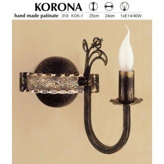 JUPITER 319 KOK-1 | KoronaJ Jupiter zidna svjetiljka 1x E14 antik brončano