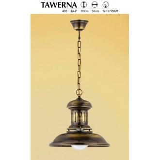 JUPITER 403 TA 1 P | Tawerna Jupiter visilice svjetiljka 1x E27 patinastost bakar
