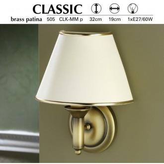 JUPITER 505 P.CLKM | ClassicJ Jupiter zidna svjetiljka 1x E27 patinastost bakar, krem