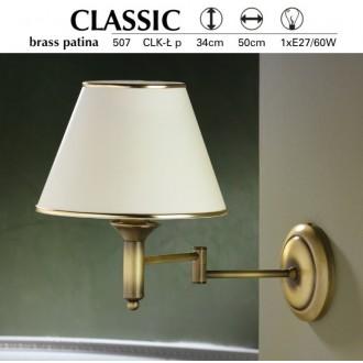 JUPITER 507 P.CLK L | ClassicJ Jupiter zidna svjetiljka elementi koji se mogu okretati 1x E27 patinastost bakar, krem