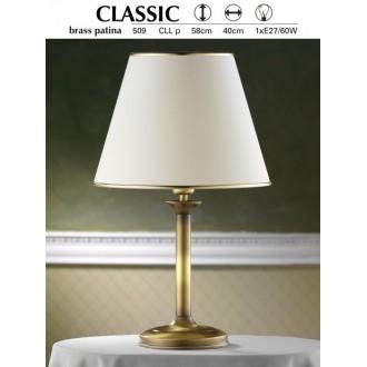 JUPITER 509 P.CLL | ClassicJ Jupiter stolna svjetiljka 53cm sa prekidačem na kablu 1x E27 patinastost bakar, krem