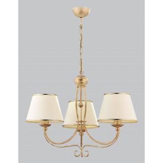 JUPITER 513 LA-3-E | LauraJ Jupiter luster svjetiljka 3x E27 zlatno, ecru