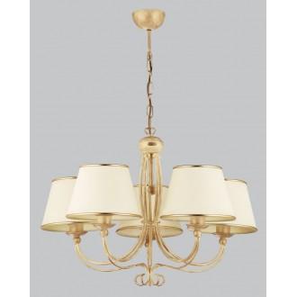 JUPITER 515 LA-5-E | LauraJ Jupiter luster svjetiljka 5x E27 zlatno, ecru