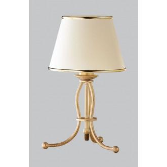 JUPITER 517 LA-L-E | LauraJ Jupiter stolna svjetiljka 38cm sa prekidačem na kablu 1x E27 zlatno, ecru