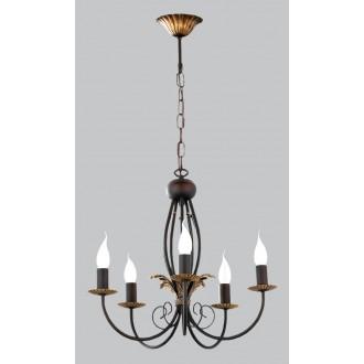 JUPITER 592 PR-5-I | PortoJ Jupiter luster svjetiljka 5x E14 antik brončano