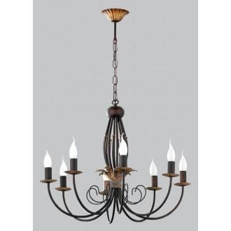 JUPITER 593 PR-8-I | PortoJ Jupiter luster svjetiljka 8x E14 antik brončano