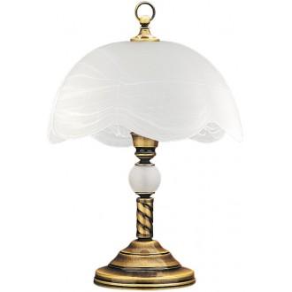 JUPITER 6 JG | JupiterJ Jupiter stolna svjetiljka 47cm sa prekidačem na kablu 1x E27 patinastost bakar, bijelo