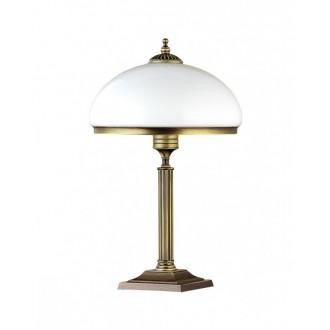 JUPITER 626 ZU G | ZeusJ Jupiter stolna svjetiljka 50cm sa prekidačem na kablu 2x E14 patinastost bakar, bijelo