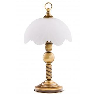 JUPITER 7 JN | JupiterJ Jupiter stolna svjetiljka 40cm sa prekidačem na kablu 1x E27 patinastost bakar, bijelo