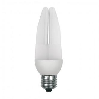 KANLUX 12843 | E27 9W -> 44W Kanlux oblik svijeće C37 štedna žarulja CDL 420lm 2700K