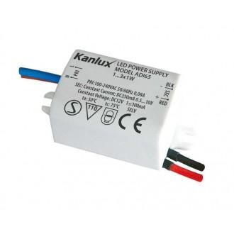 KANLUX 1440 | Kanlux LED napojna jedinica 350mA DC 1-3x 1W 0,5-10V pravotkutnik toplinski osigurač bijelo