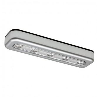 KANLUX 14810   Alexa_KA Kanlux osvjetljenje namještaja svjetiljka pravotkutnik baterijska/akumulatorska 1x LED 15lm 6500K srebrno
