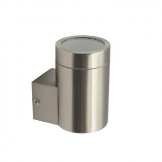 KANLUX 18010 | Magra Kanlux zidna svjetiljka cilindar 1x GU10 IP44 plemeniti čelik, čelik sivo